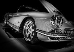 1961 (Dave GRR) Tags: corvette stingray 1091 1961 chevrolet motorama auto show olympus toronto 2019 monochrome mono blackandwhite