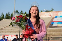 2019 Special Olympics Summer Games Queen (dangaken) Tags: specialolympicsmichigan specialolympics cmu somi athlete centralmichiganuniversity compete statesummergames centralmichigan olympics so sport sports volunteer game play flowers crown queen sash smile