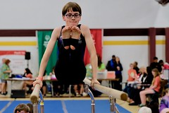 Special Olympics Michigan State Summer Games (dangaken) Tags: game sports sport play cmu olympics volunteer athlete centralmichigan specialolympics compete somi centralmichiganuniversity so specialolympicsmichigan statesummergames gymnast gymnastics parallelbars