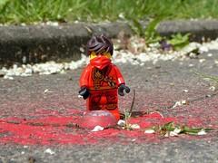 Kai's Red Spot (captain_joe) Tags: toy spielzeug 365toyproject lego minifigure minifig ninjago kai