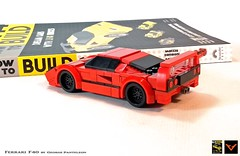 Ferrari F40 (ZetoVince) Tags: car supercar f40 ferrari instructions book lego zetovince zeto
