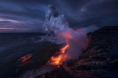 Wake Up Call (Ryan Dyar) Tags: extremeexposure ryandyar volcano oceanentry boat dawn twilight sunrise hili kalapana 61g lavaflow lava coast ocean pacific bigisland hawaii