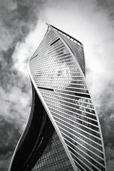 EVOLUTION TOWER (Jek 75) Tags: architecture blackandwhite building filter skyscraper moscow moscowcity film nikonf55 ilfordpan100 analog 35mm bw nikon f55 ilford