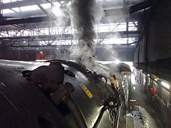 Southall West London 11th December 2017 (loose_grip_99) Tags: southwell london england uk railway railroad rail train main line shed mpd depot steam engine locomotive transportation preservation gassteam uksteam trains railways britishrailways brit standard pacific 462 70013 olivercromwell 5305la smoke whistle running plate december 2017 almostanything