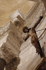 Crucifix (sfryers) Tags: svetogduje svetidujam cathedral interior mausoleum dome diocletian historic wood carving crucifix cross christ split dalmatia croatia smc pentaxfa 35mm 12