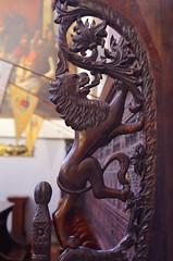 Lion carving (sfryers) Tags: svetogduje svetidujam cathedral interior mausoleum diocletian historic romanesque wood carving lion split dalmatia croatia smc pentaxfa 35mm 12