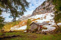 Berghütte (WaldyWhite) Tags: berghütte berge hütte schweiz alpen горы альпы швейцария хижина избушка
