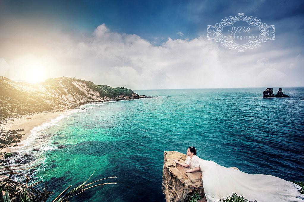 台北婚紗攝影,金山獅頭山公園燭臺雙嶼拍婚紗,台北婚紗,神秘海岸婚紗