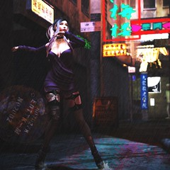 The Rains of Kowloon (LiangScorpio) Tags: kowloon secondlife sl rain torn stockings