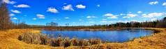 BACK 30 POND (Bob's Digital Eye 2) Tags: back30 canon canonefs1855mmf3556isll stitchedpano t3i bobsdigitaleye2 landscape pond water flicker flickr clouds sky