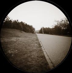 Šančių dviračių takas, Šančiai bicycle path (batuda) Tags: pinholeday šančiai kaunas nemunokrantinė pinhole oscura stenope lochkamera analog analoge can round circular paper ilford ilfospeed d76 11 bicycle path threat april 28th spring 2019
