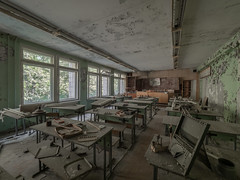 School in Pripiat (NأT) Tags: pripiat prypiat pripyat tchernobyl chernobyl abandoned abandon abandonné abandonnée abbandonato abbandonata ancien ancienne alone architecture architectural school students kids child children childhood memories souvenirs nobody empty past light lost history sadness explorationurbaine exploration explore exploring explo explored rust rusty ruins rotten radioactive trespassing urbex urban urbain urbaine urbanexploration inexplore inside old passé photography decay decaying derelict dust decayed dusty forgotten forbidden neglected building verlassen école teacher teach study creepy discover
