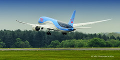 Dreamliner Departure (© Freddie) Tags: luton bedfordshire lutonairport ltn eggw ltneggw boeing b787 b788 tui gtuic named dreammaker dreamliner fjroll ©freddie 7878 b7878