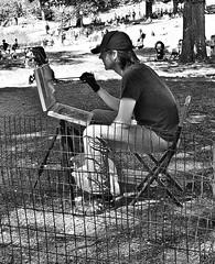 Painter in the Park (canonsnapper) Tags: street streetphotography artist newyork centralpark olympusomdem5markll streetartist