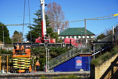 Hazelbrook Railway Station (Busy,Busy,Bl.Mtns.Grandma) Tags: hazelbrookrailwaystation hazelbrook railway station lift crane workers