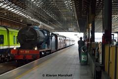 85 arrives at Connolly, 13/5/19 (hurricanemk1c) Tags: railways railway train trains irish rail irishrail iarnród éireann iarnródéireann 2019 rpsi railwaypreservationsocietyofireland gnri greatnorthernrailwayireland 85 merlin dublin connolly 0840waterfordconnolly