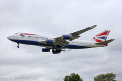 G-CIVO - 1997 build Boeing B747-436, on approach to Runway 27L at Heathrow (egcc) Tags: 1135 28849 b744 b747 b747400 b747436 ba baw boeing boeing747 britishairways egll gcivo heathrow jumbojet lhr lightroom london