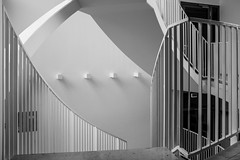 Stairway (Mondo79) Tags: x100t fuji bw blackandwhite architecture stairs