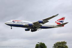 G-CIVR - 1998 build Boeing B747-436, on approach to Runway 27L at Heathrow (egcc) Tags: 1146 25820 b744 b747 b747400 b747436 ba baw boeing boeing747 britishairways egll gcivr heathrow jumbojet lhr lightroom london
