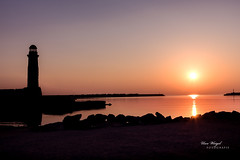 Sunset on Crete (Uwe Weigel) Tags: greece crete kreta sunset leuchtturm lighthouse travel travelphotography colors sun küste coast island insel view bestdestination nicepic earth world europe griechenland sea mediterranean mittelmeer