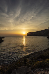 Xlendi Sunset (CraDorPhoto) Tags: canon5dsr landscape sea mediterranean sun sunset sky clouds mature outside outdoors slihouette coast coastline gozo malta