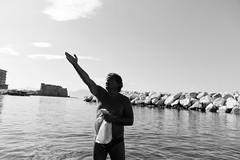 (The Scream of Summer) (Robbie McIntosh) Tags: leicam9p leica m9p rangefinder streetphotography 35mm leicam autaut candid strangers leicaelmarit28mmf28iii elmarit28mmf28iii elmarit 28mm seaside man belly tan naked colonnaspezzata bikini swimsuit blackandwhite