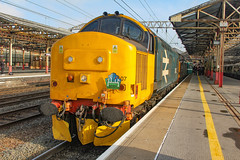 37407+37059 at Crewe with 1Z44 0550 Huddersfield - Paignton 25/05/19 (chrisrowe37419) Tags: 37407 37059 crewe 1z44 0550 huddersfield paignton 250519