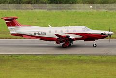G-MAKN (GH@BHD) Tags: gmakn pilatus pc12 pcxii ravenair ravenairaircraft bhd egac belfastcityairport aircraft aviation corporate turboprop executive