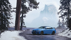 BMW M4 (at1503) Tags: cooltones blue car sportscar bmw m4 bmwm4 yosemitenationalpark road ice snow cold winter mountain sky trees pinetrees california usa sierranevada germancar gtsport granturismo granturismosport motorsport racing game gaming ps4