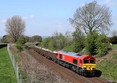 66130 arrives at Hellifield (Lancashire photter) Tags: 66130 6e95 newbiggin british gypsum kirkby thore 2018