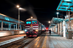 Ulaanbaatar railway station... (N.Batkhurel) Tags: railway railfan railwaystation station trainspotting transport diesellocomotive locomotive m62umm people passenger ngc nikon nikondf nikkor 24120mm nightshot mongolia monrailpic