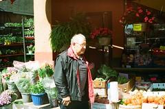 "Wish she'd do her own shopping (Xsbmrnr (Please read profile before ""following"") Tags: colour colourfilm color colorfilm downtown 35mm 35mmfilm film filmphotography hamilton hamiltonontario kodak people portra800 portra street streetphotography urban market streetmarket"