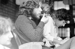 1977: portraits sleep-in Amsterdam 14 (doc(q)man) Tags: young man boy adolescent portrait smoking joint marihuana tourism youthyouth tourismnetherlandsholland1970sseventiesoldold photosmonochromeblack white bw predigital nostalgia sleepin docman