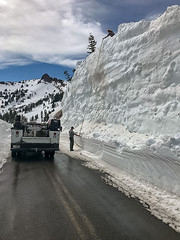 Lassen Volcanic National Park, California: 2019 Spring Road Clearing (lhboudreau) Tags: highway road snow springroadclearing weather plowing snowdrift parkhighway rte89 route89 snowremoval lassenvolcanicnationalpark park nationalpark california northerncalifornia 2019 outdoor outdoors lassen parkroad roadclearing