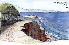 Maria Island.Cape Boullanger (panda1.grafix) Tags: review mariaisland darlington tasmania pencilinkwash sketch seascape