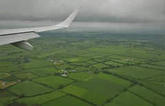 Approaching the green island (roomman) Tags: 2019 landscape nature fra eddf snn shannon frankfurt lufthansa lh dlh flight embraer e170 e190 daeci aeci einn trip aereal aerial above from wing winglet