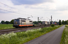 "[DE] Drentwede, 31.05.2019 - 162 003 ""Hectorrail"" mit KLV (Frederik L.) Tags: db bahn zug eisenbahn cargo lok fracht güter privatbahn lokomotive baureihe 151 bundesbahn bahnhof diepholz drentwede hectorrail"