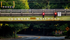 Georgia Railroad overpass (cizauskas) Tags: railroad train bridge underpass road decatur georgia continentaldivide canon canonfd legacylens manualfocus fotodiox