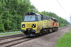 70814 - 0C22. (Andy.Parkinson) Tags: 70814 0c22 wiganboarsheadgf wcml westcoastmainline class70 colasrailfreight