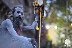 Blue skin (Lotus Mi) Tags: varanasi xf56mmf12r people man blue monk ghat xpro2 journey travel fuji fujifilm ganges trip india
