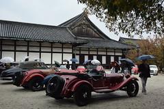 cd'ek19073 (tanayan) Tags: car automobile kyoto japan nikon v3 nijyo 二条城 京都 日本 zagato concorso deleganza alfa romeo italian castle