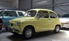 Fiat 600L 1972 (XBXG) Tags: 0905vh fiat 600l 1972 fiat600 600 l jaune yellow bva autctions anthony fokkerweg uithoorn vintage old classic italian car auto automobile voiture ancienne italienne italie italia italy vehicle indoor