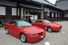 cd'ek19012 (tanayan) Tags: car automobile kyoto japan nikon v3 nijyo 二条城 京都 日本 zagato concorso deleganza alfa romeo italian lancia castle