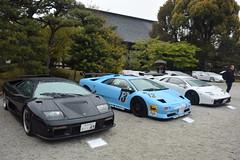 cd'ek19039 (tanayan) Tags: car automobile kyoto japan nikon v3 nijyo 二条城 京都 日本 zagato concorso deleganza lamborghini italian castle