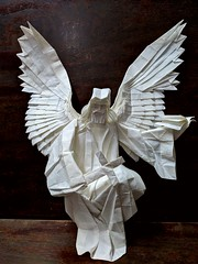 Angel (Lê Huỳnh Đức) Tags: origami art paper angel fantasy sculpture papercraft papersculpture