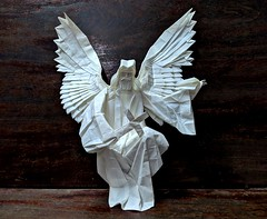 Angel (Lê Huỳnh Đức) Tags: origami art papersculpture papercraft fantasy angel paper