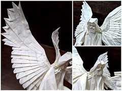 Angel (Lê Huỳnh Đức) Tags: origami art paper sculpture fantasy angel papercraft papersculpture