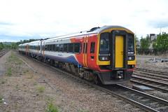East Midlands Trains Class 158s 158810 &158858 - Chesterfield (dwb transport photos) Tags: eastmidlandstrains dmu sprinter 158810 chesterfield