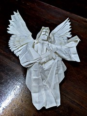 Angel (Lê Huỳnh Đức) Tags: origami art paper papersculpture sculpture papercraft fantasy angel