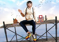 LOTD 520 (Brendo Schneuta) Tags: kuni bluprnt lelutka fli exalted ddl level equal10 mancave fashiowl event events releases hoodie pants sneakers bento keepcalm blogger blog bloggersl secondlife secondlifeblog second sl mens male boy moda fashion style estilo bag game avatar virtual